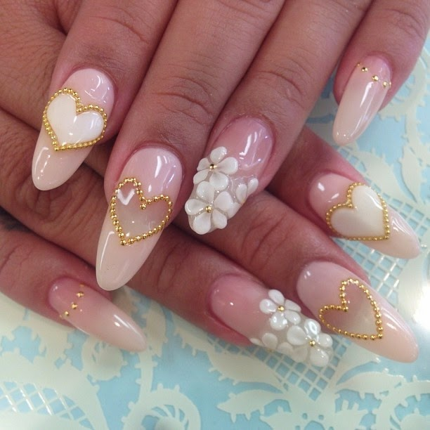 Bride nail art nail magic 3d acrylic bridal nail designs prinsesfo Images